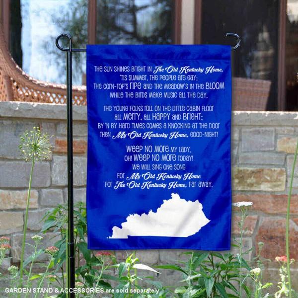 Kentucky Wildcats My Old Kentucky Home Lyrics Garden Banner