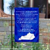 Kentucky Wildcats My Old Kentucky Home Lyrics Garden Banner