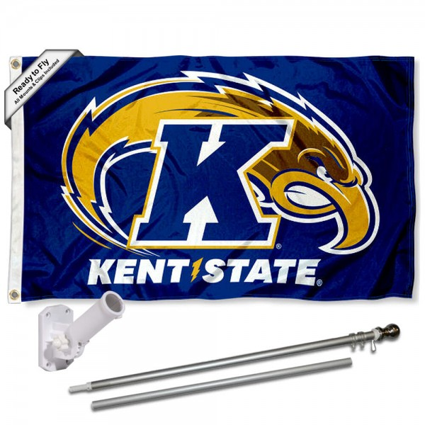 KSU Golden Flashes Flag and Bracket Flagpole Set