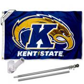 KSU Golden Flashes Flag and Bracket Flagpole Set