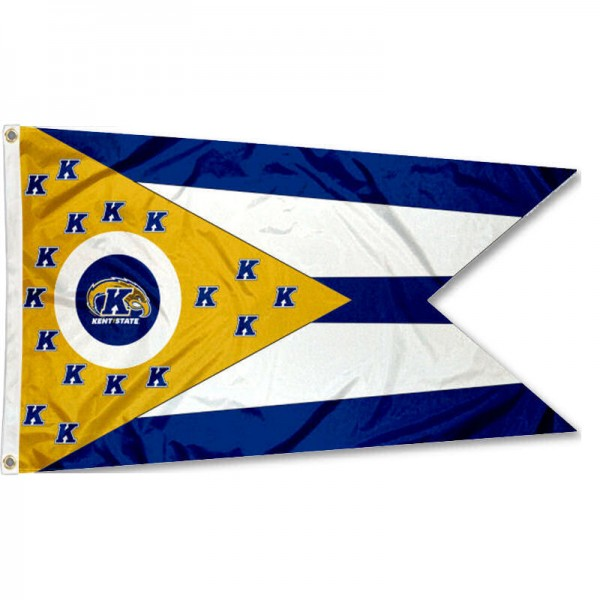 KSU Golden Flashes OH State Shaped Flag