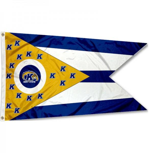 KSU Golden Flashes OH State Shaped Flag