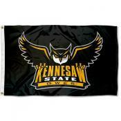 KSU Owls Black Outdoor Flag