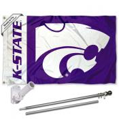 KSU Wildcats Flag and Bracket Flagpole Set