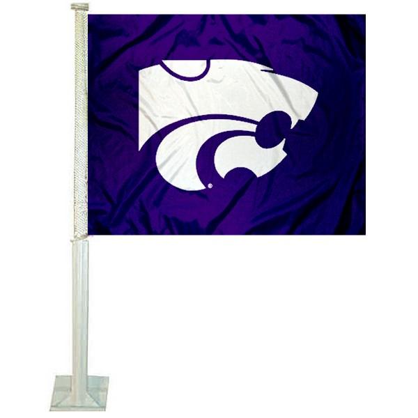 KSU Wildcats Purple Car Flag