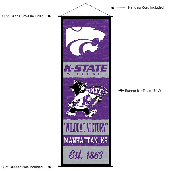 KSU Wildcats Wall Banner and Door Scroll