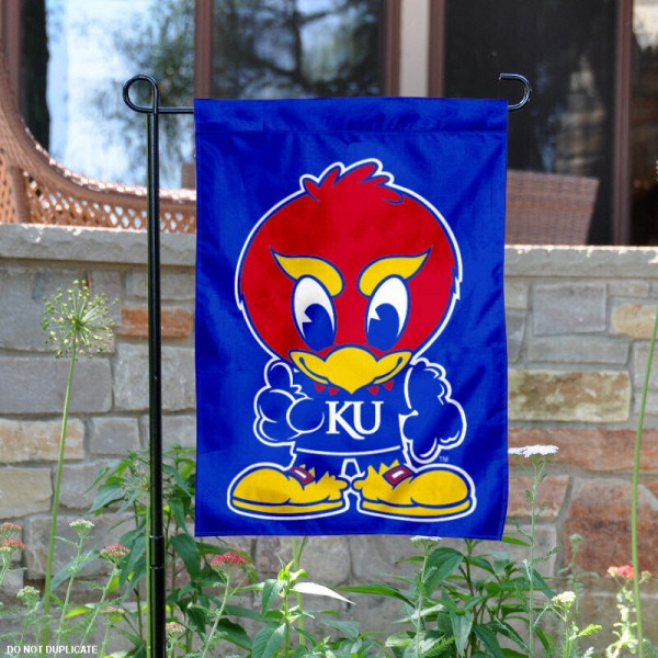 KU Baby Jay Garden Flag