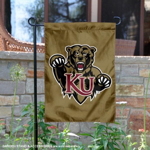 KU Bears Logo Garden Flag
