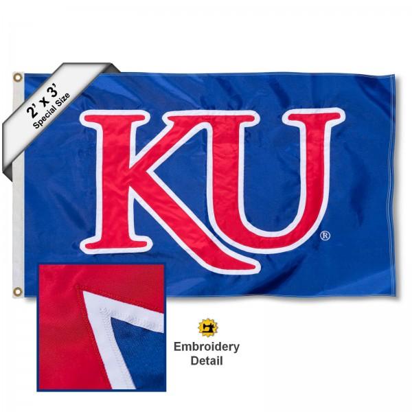 KU Jayhawks 2x3 Flag