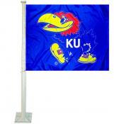 KU Jayhawks Car Flag