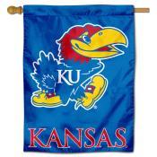 KU Jayhawks Polyester House Flag