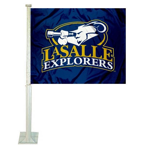 La Salle Explorers Car Flag