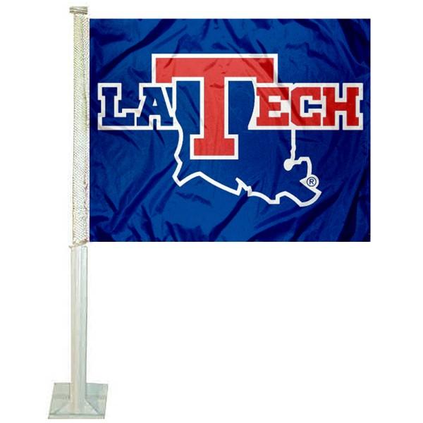 La Tech Bulldogs Car Flag