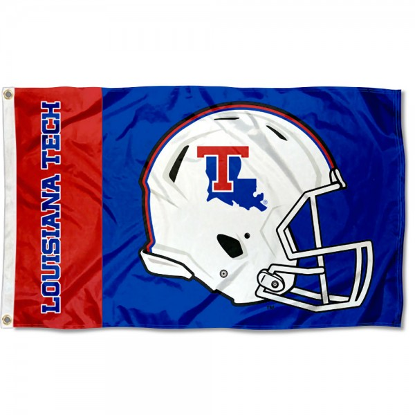 La Tech Bulldogs Helmet Flag