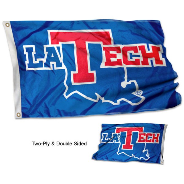 La Tech Bulldogs Two-Sided 3x5 Foot Flag