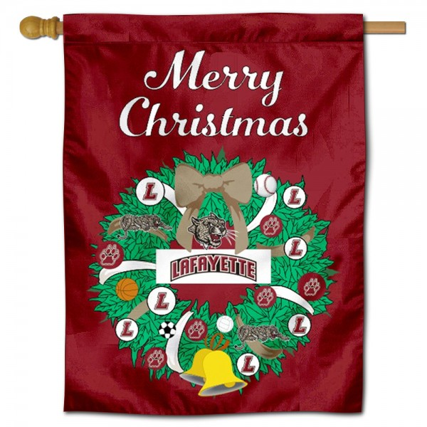 Lafayette Leopards Christmas Holiday House Flag