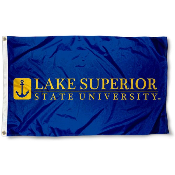 Lake Superior State Lakers Wordmark Logo Flag