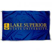 Lake Superior State Lakers Wordmark Logo Flag