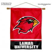 Lamar Cardinals Banner with Pole