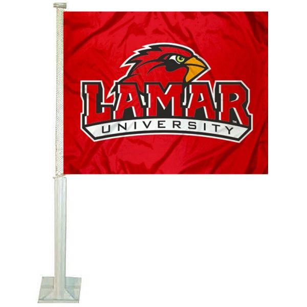 Lamar Cardinals Car Flag