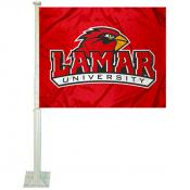 Lamar Cardinals Car Flag