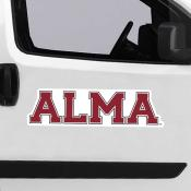 Large Jumbo Logo Car Magnet for Alma College Scots