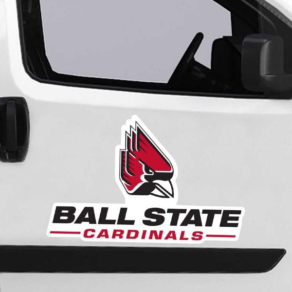 Large Jumbo Logo Car Magnet for Ball State University Cardinals
