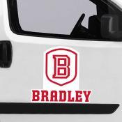 Large Jumbo Logo Car Magnet for Bradley University Braves