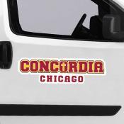 Large Jumbo Logo Car Magnet for Concordia University Chicago Cougars