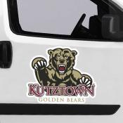 Large Jumbo Logo Car Magnet for Kutztown University Golden Bears