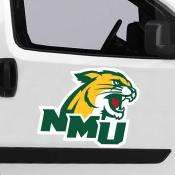 Large Jumbo Logo Car Magnet for Northern Michigan University Wildcats