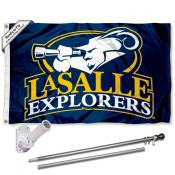 LaSalle Explorers Flag and Bracket Flagpole Kit