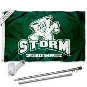 LEC Storm Flag and Bracket Flagpole Kit