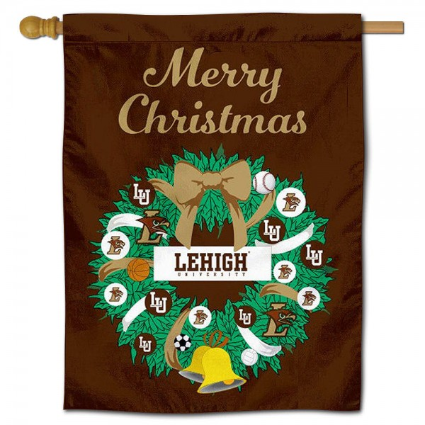 Lehigh Mountain Hawks Christmas Holiday House Flag