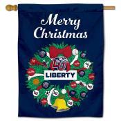 Liberty Flames Christmas Holiday House Flag
