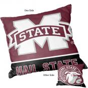 Logo Pillow for MSU Bulldogs