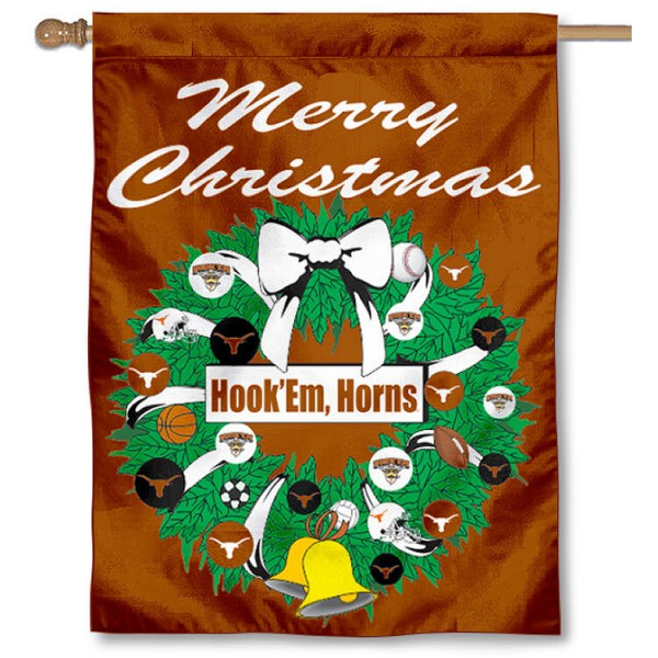 Longhorns  Holiday Flag