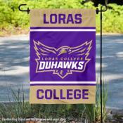 Loras College Duhawks Garden Flag