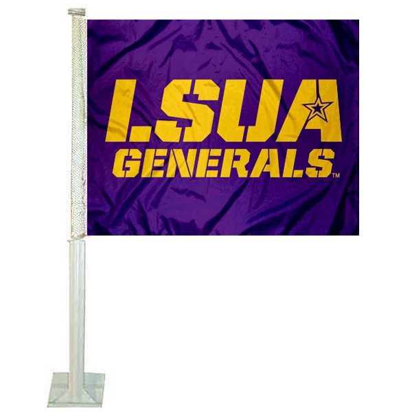 Louisiana Alexandria Generals Car Flag