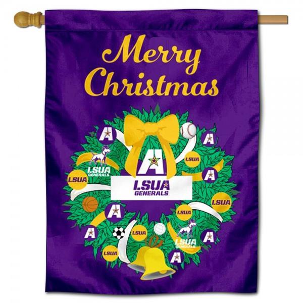 Louisiana Alexandria Generals Christmas Holiday House Flag