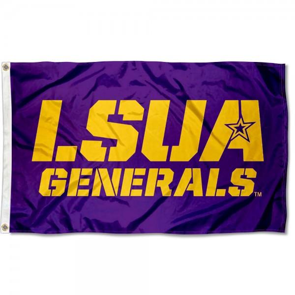 Louisiana Alexandria Generals LSUA Logo Flag