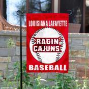 Louisiana Lafayette Baseball Garden Flag