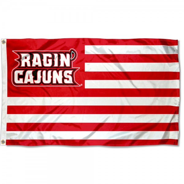 Louisiana Lafayette Ragin Cajuns American Nation Flag