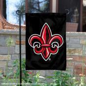 Louisiana Lafayette Rajun Cajuns Black Fleur Garden Banner