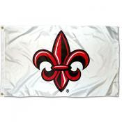 Louisiana Lafayette Rajun Cajuns Fleur White Flag