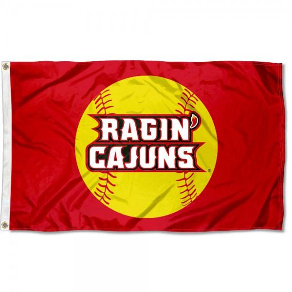 Louisiana Lafayette Softball Flag