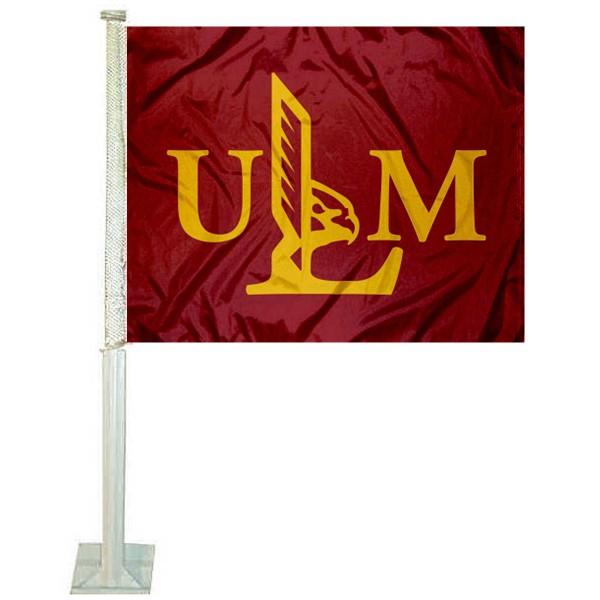 Louisiana Monroe Warhawks Car Flag
