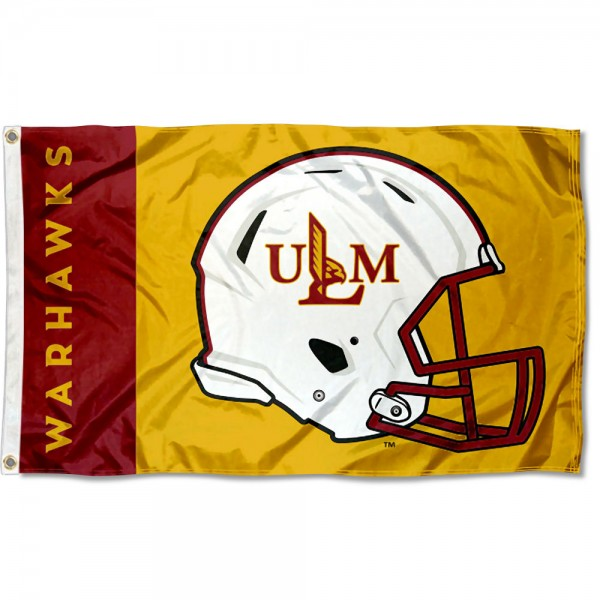 Louisiana Monroe Warhawks Helmet Flag
