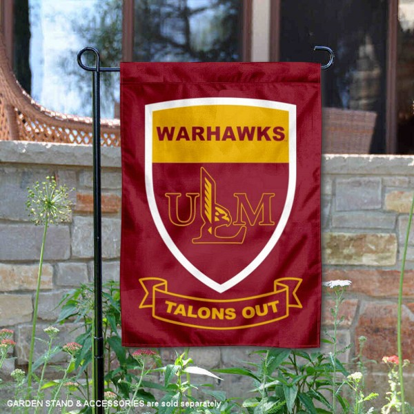 Louisiana Monroe Warhawks Shield Garden Banner