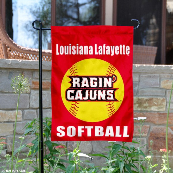 Louisiana Ragin Cajuns Softball Garden Flag